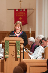 A reader during worship services