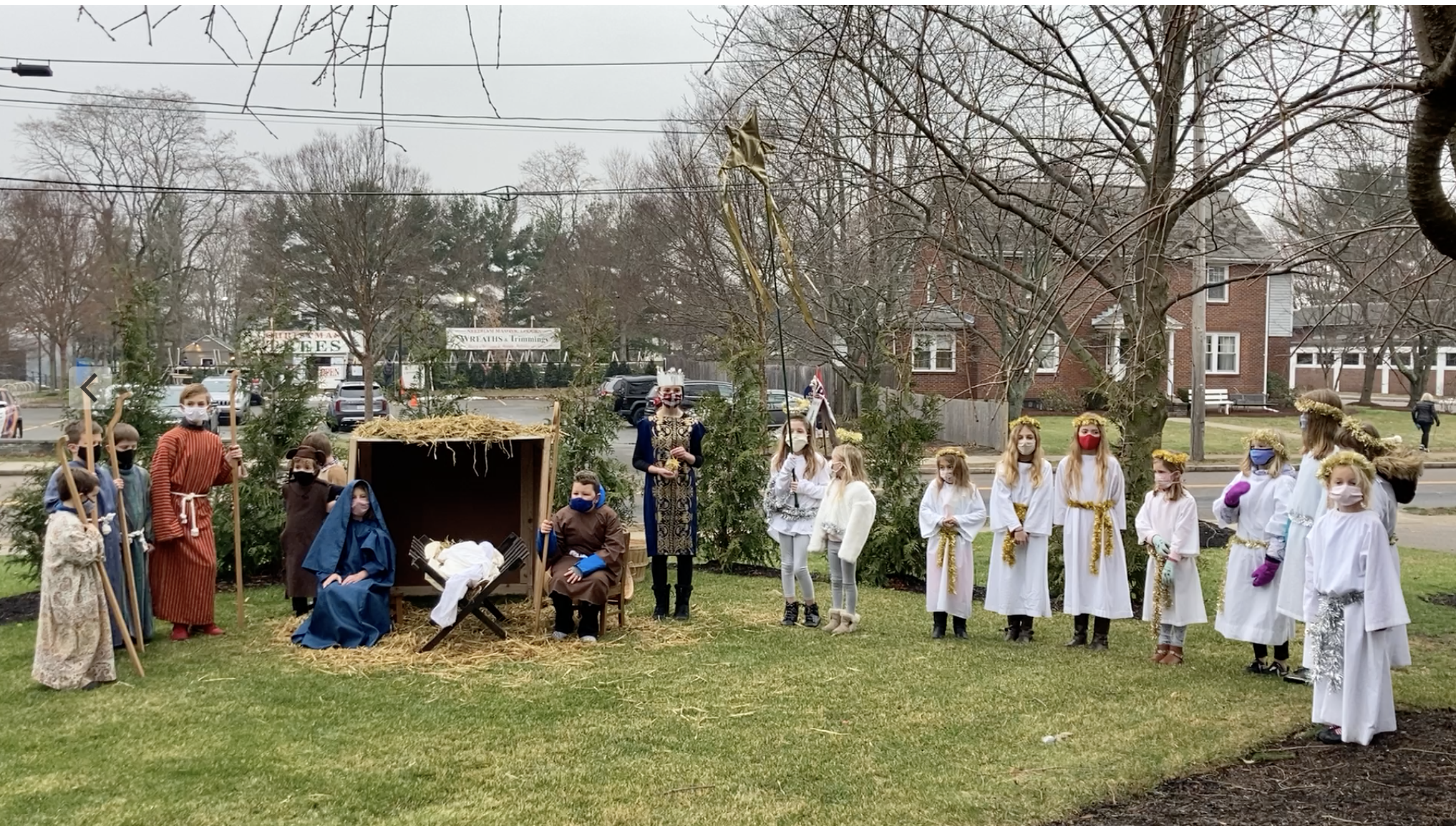 Pageant Tableau Christ Church Needham 2020.12.12