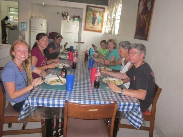 Haiti team at dinner