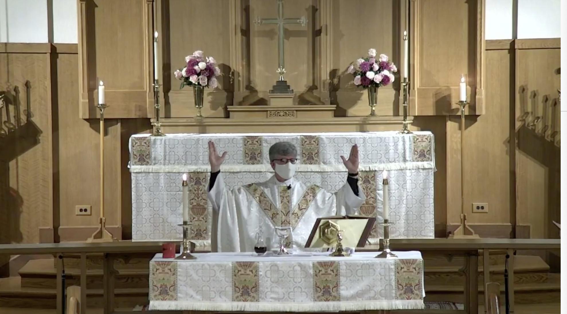masked nick easter altar
